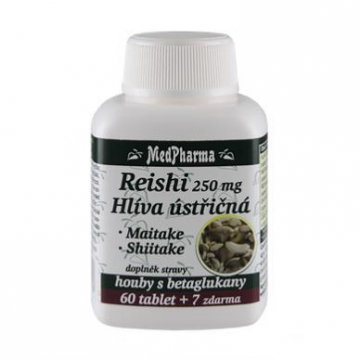 Reishi 250g + hlíva ústřičná + maitake + shiitake 67 tablet