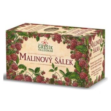 Malinový šálek, porcovaný