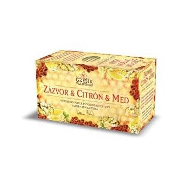 Zázvor & citrón & med, porcovaný