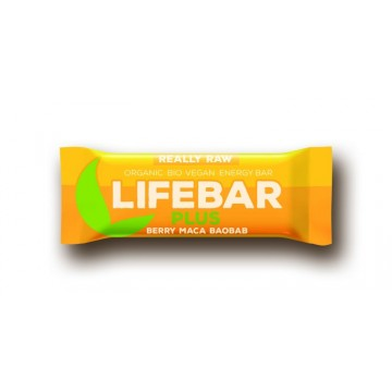 Lifebar plus třešňová s macou a baobabem bio