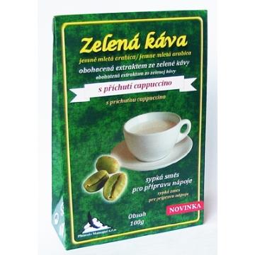 Zelená káva s příchutí cappuccino