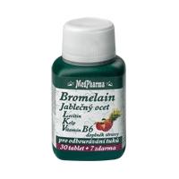 Bromelain 300 mg + jablečný ocet + lecitin + kelp + vit.B6 37 tablet