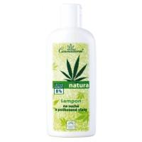 natura šampon na suché a poškozené vlasy