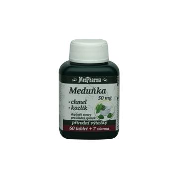 Meduňka 50mg + chmel + kozlík  67 tablet
