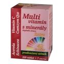 Multivitamin s minerály - 42 složek, extra C + Q10  107 tablet