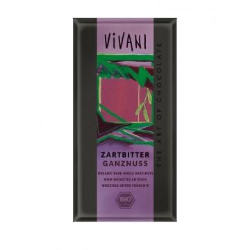 Bio čokoláda hořká s oříšky VIVANI