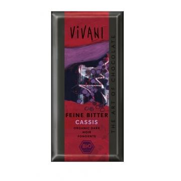 Bio hořká čokoláda s náplní černý rybíz ViVANI